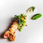 Langoustine, haricot , roquette et fève de tonka