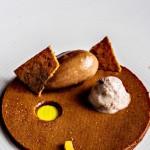 Chocolat, olive, pamplemousse confit